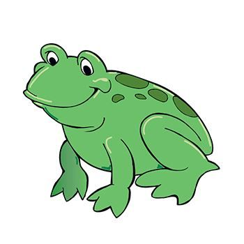 Green frog with dark green spots;temporary tattoo.