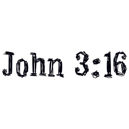 John 3:16 Temporary Tattoo