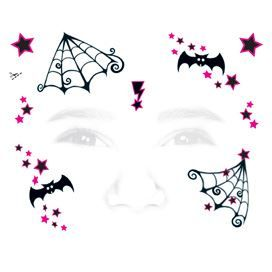 Kids Witch Face Temporary Tattoo