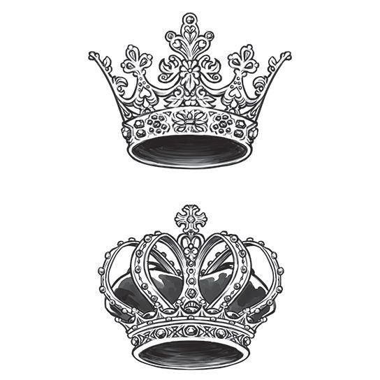 King and Queen Temporary Tattoos