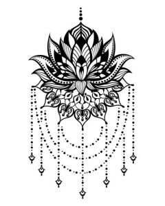 Lotus Chandelier Temporary Tattoo