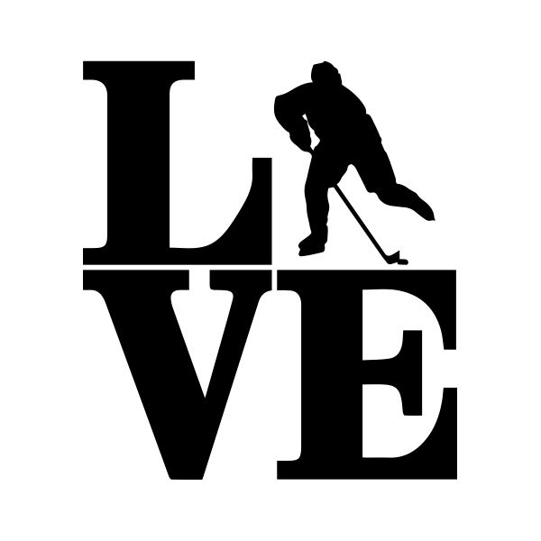 Love Hockey Temporary Tattoo