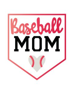 Metallic Baseball Mom Temporary Tattoo