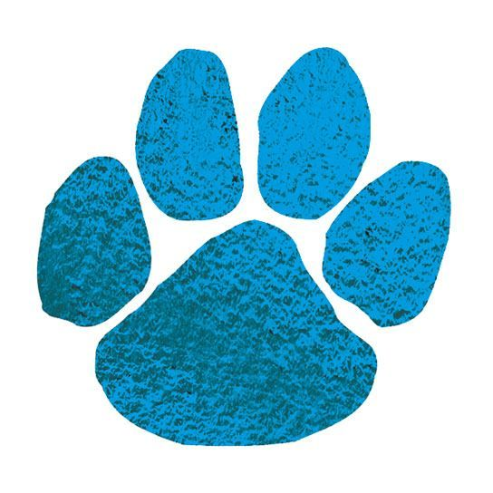 Metallic Blue Paw Print Temporary Tattoo