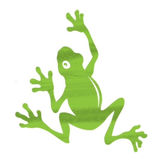 Metallic Frog Temporary Tattoo