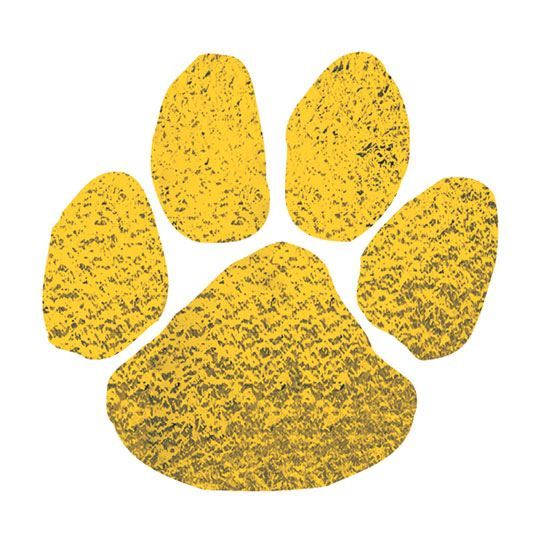 Metallic Gold Paw Print Temporary Tattoo