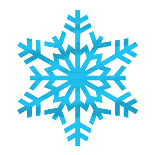 Metallic Snowflake Temporary Tattoo