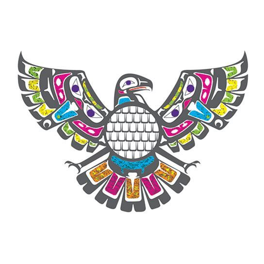 Pacific Northwest Eagle Temporary Tattoo