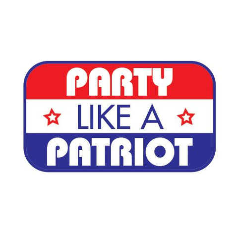 Party Like A Patriot Temporary Tattoo