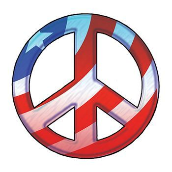 Patriotic Peace Sign Temporary Tattoo