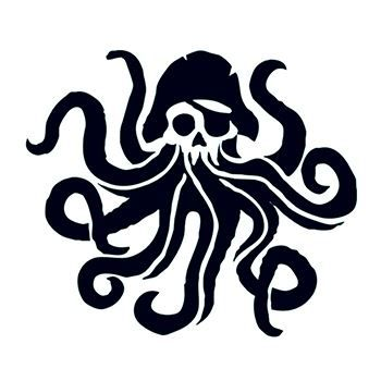 Pirate Octopus Temporary Tattoo