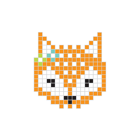 Pixel Red Fox Temporary Tattoo
