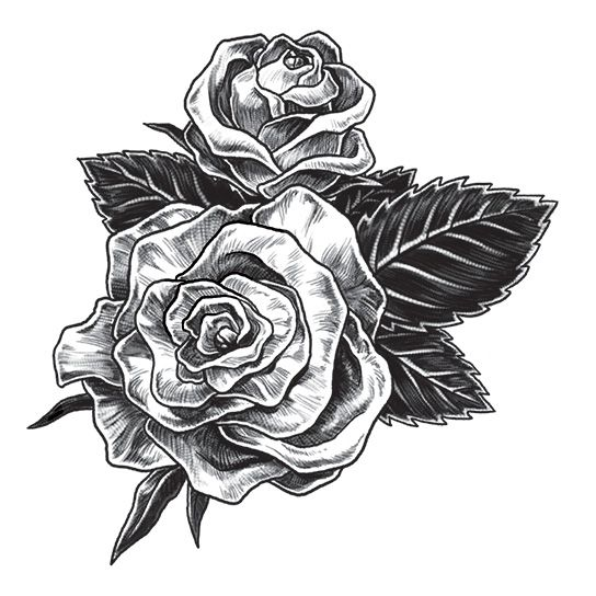 Realistic Rose Temporary Tattoo