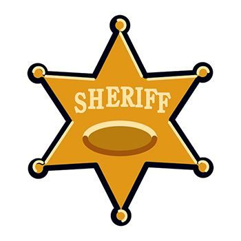 Sheriff Badge Temporary Tattoo
