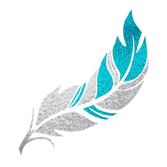 Silver and Teal Flash Temporary Tattoo