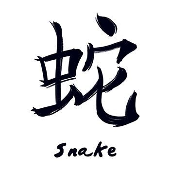 Snake Chinese Zodiac Temporary Tattoo