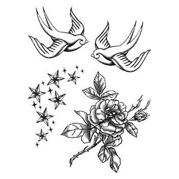 Sparrow Temporary Tattoo