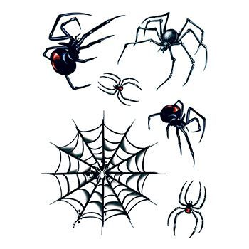 Spiders And Web Temporary Tattoo