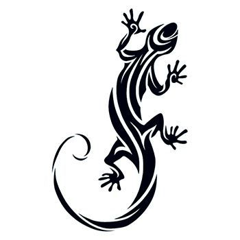 Tribal Lizard Temporary Tattoo