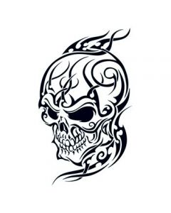 Tribal Skull Temporary Tattoo