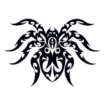 Tribal Spider Temporary Tattoo