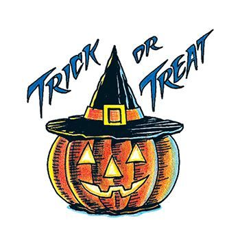 Trick or Treat Temporary Tattoo