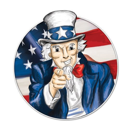 Uncle Sam Temporary Tattoo