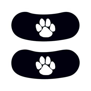 White Paw Print Eye Black Temporary Tattoo