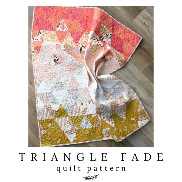 Strawberry Lemonade Triangle Fade Quilt
