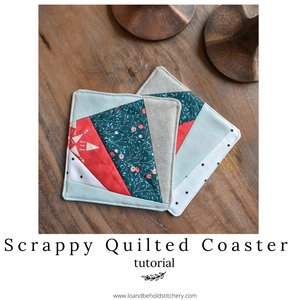 Scrappy Quilted Coaster Tutorial