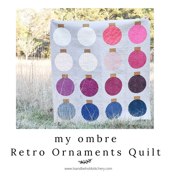 My Ombre Retro Ornaments Quilt