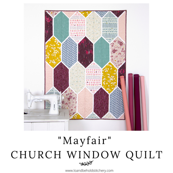 "My ""Mayfair"" Church Window Quilt"