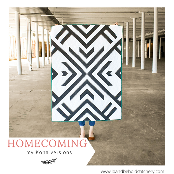 Homecoming Quilt- my Kona versions