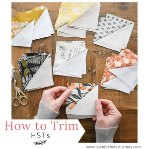 How to trim Half Square Triangles