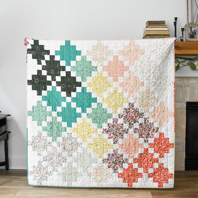 "Celtic Crossing 2.0 Quilt - using the ""Velvet"" collection"