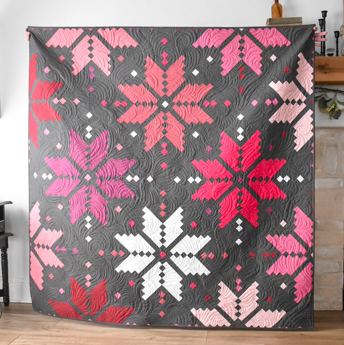 Knitted Star Quilt - my Pink & Purple version