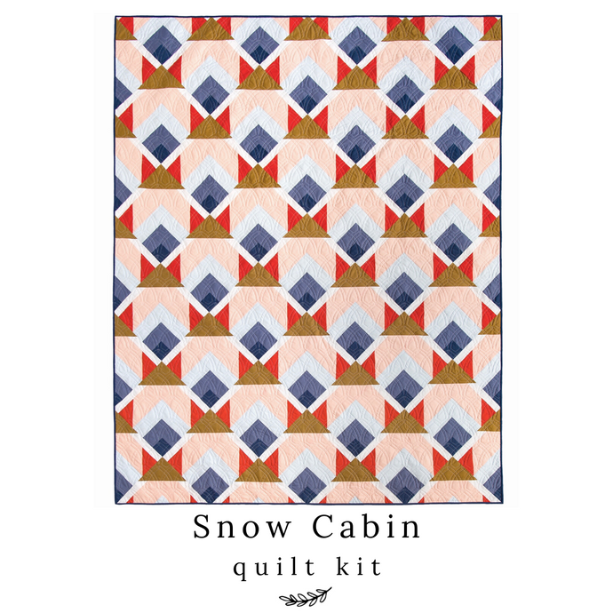 Snow Cabin Quilt Kit