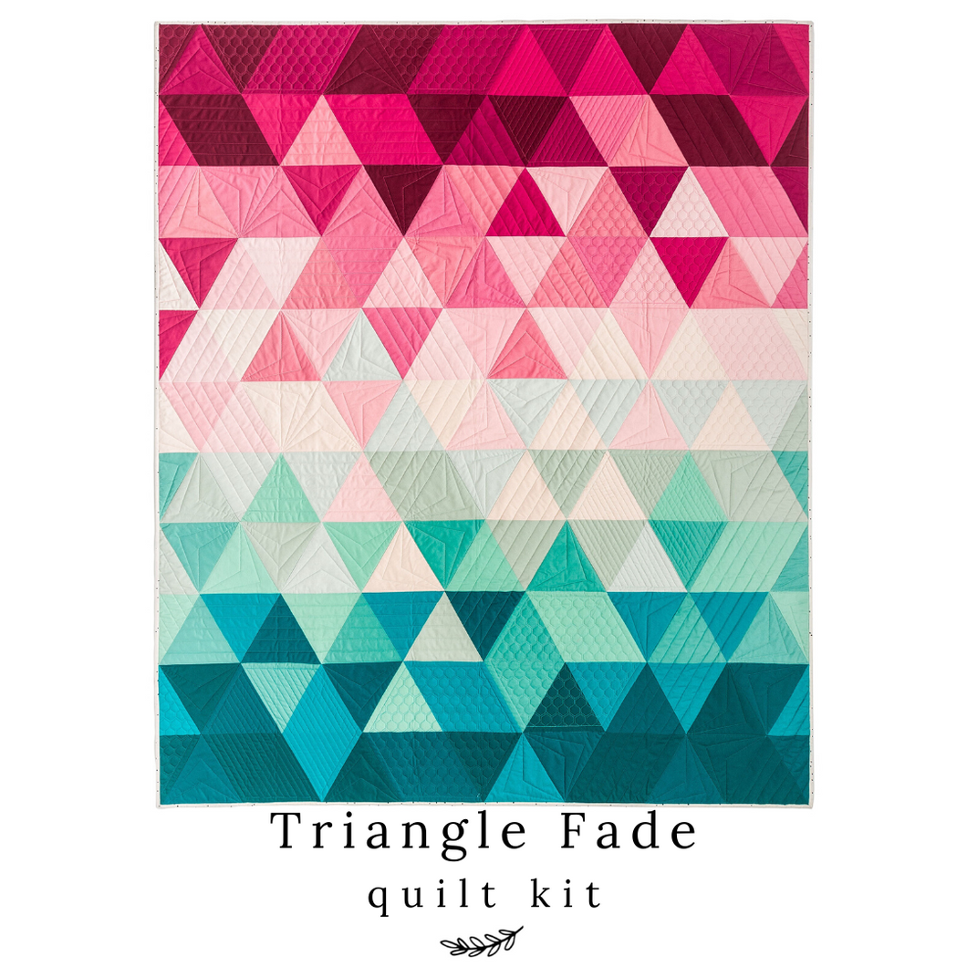 Triangle Fade 1/2 Yard Bundle/ Quilt Kit