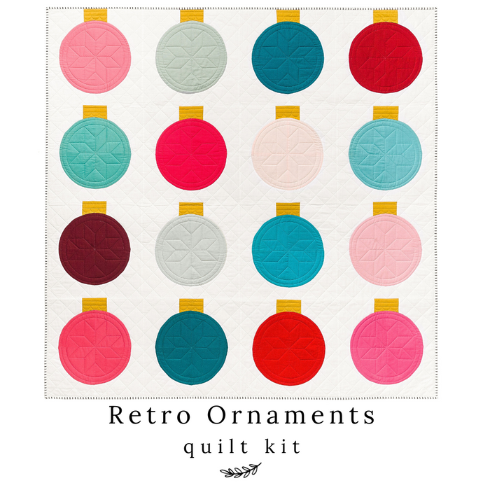 Retro Ornaments Quilt Kit