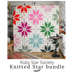 Ruby Star Society - Knitted Star Quilt Kit