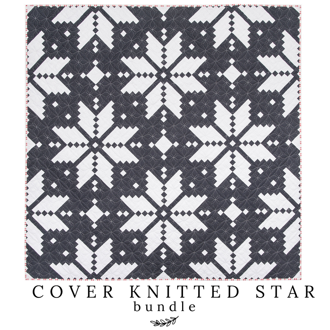 Cover Knitted Star - Throw Quilt Kit