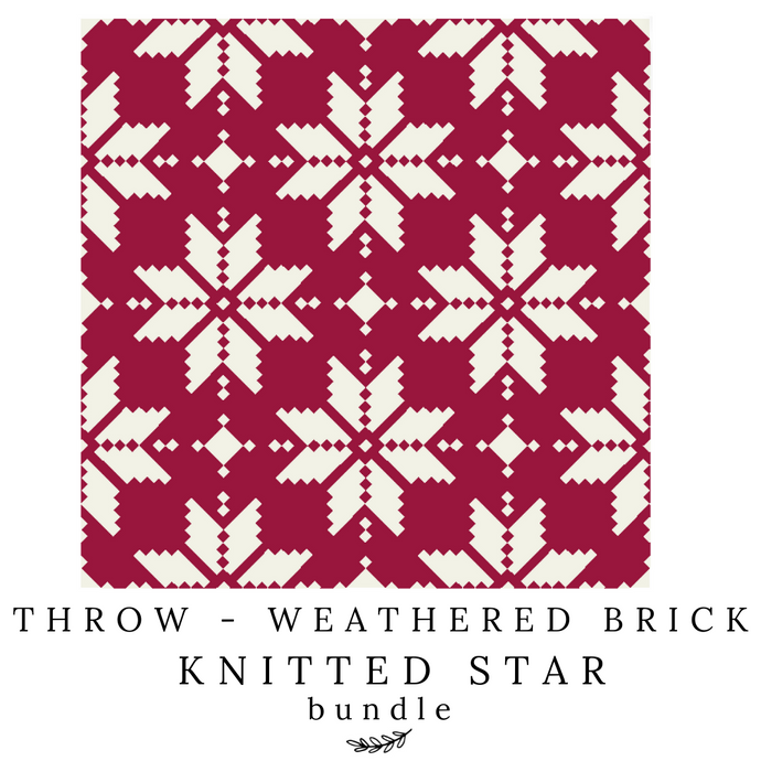 Weathered Brick - Throw Knitted Star Bundle