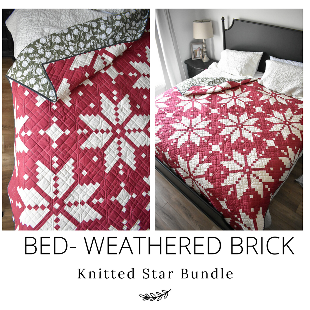 BED - Weathered Brick - Quilt Kit