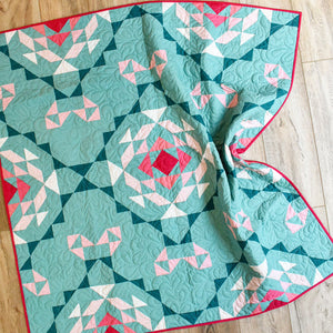 Sage Vintage Lace quilt top kit