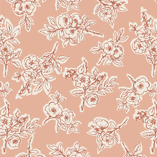 4.5 yards backing - Rambling Rose Briar
