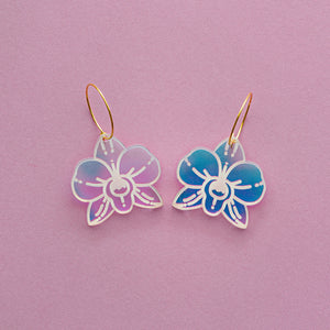 Iridescent Orchid Dangle 2