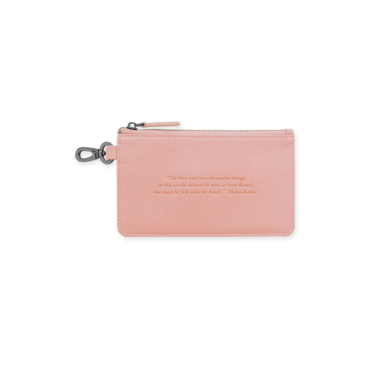All for Love Bespoke Leather Pouch with a Personalised Quote