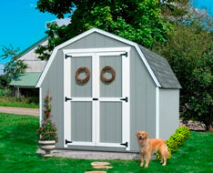 Value Gambrel Wood Storage Shed Kit (with 4' Sidewalls) Prebuilt no floor
