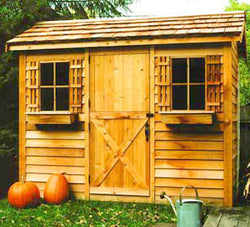 Cabana Cedar Wood Shed Kit