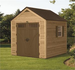 Hybrid Wood and Plastic Storage Shed (8x8)